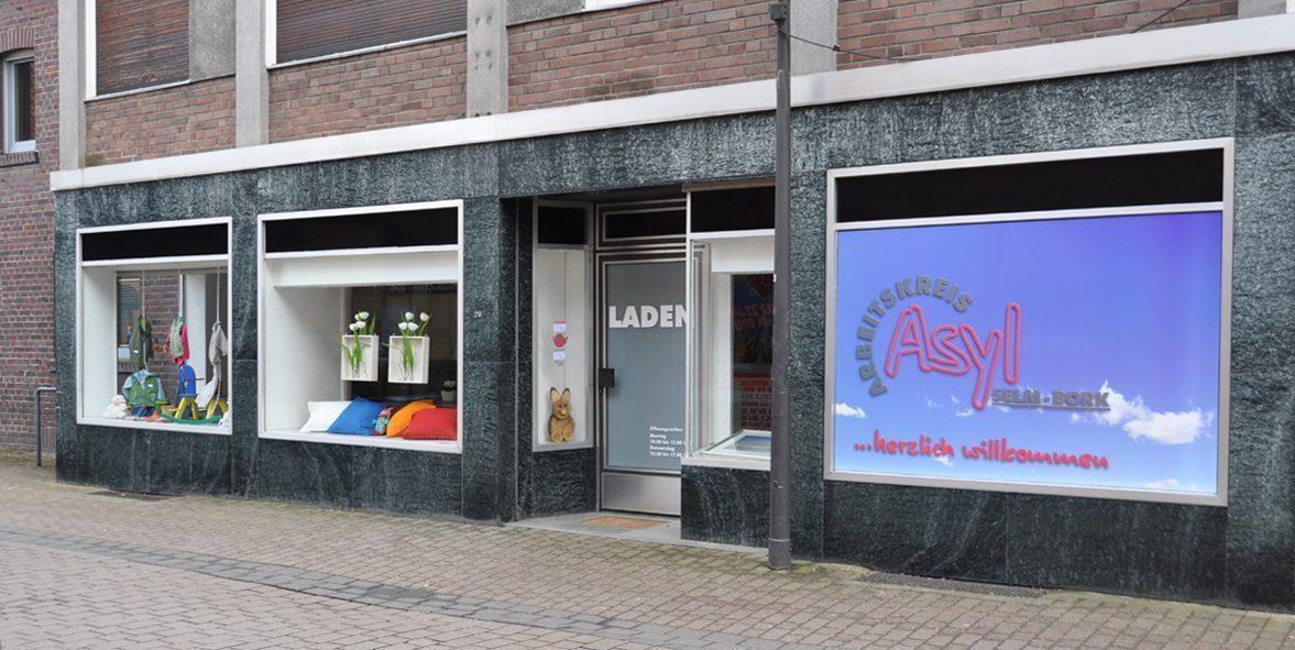 ... unser Laden in der Hauptstraße 22 in Bork